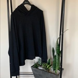 Sweaters - GAP black sweater with hood size XL.